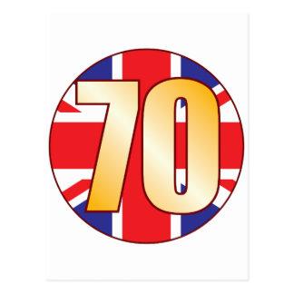 70 UK Gold Postcard