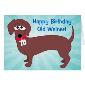 70 Year Old Weiner Card