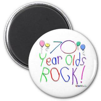 70 Year Olds Rock Fridge Magnet