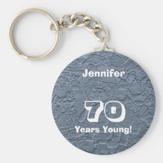 70 Years Young Blue Dolls Keychain (Key Chain)