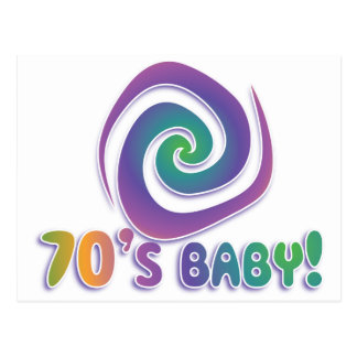 70's baby GROOVY! with swirl Postcards