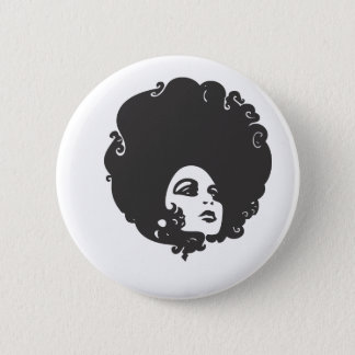 70s Chick 6 Cm Round Badge