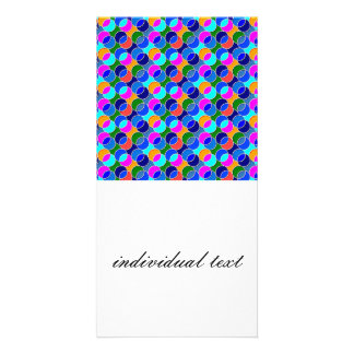 70s Circles blue colorful Photo Card Template