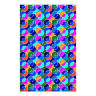 70s Circles blue pink Custom Stationery