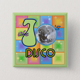 70s Disco 15 Cm Square Badge
