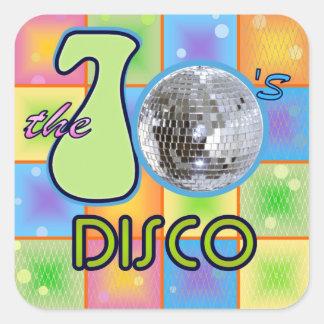 70s Disco Square Sticker