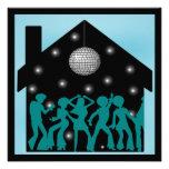 70s Disco Theme House Party Custom Announcement