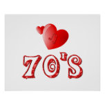 70's Hearts Poster
