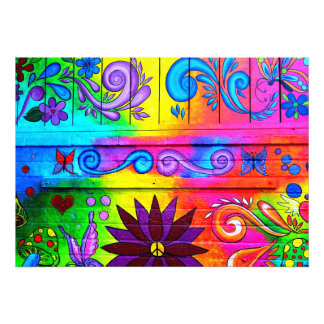 70's hippie psychedelic mural photo print art photo