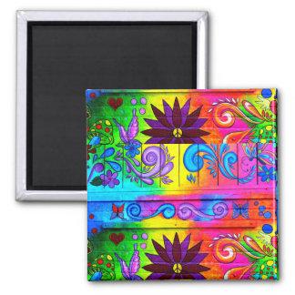 70's hippie style magnet