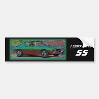 70s Muscle Car Bumper Sticker