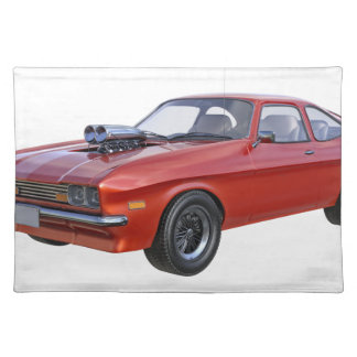 70's Muscle Car in Red Placemat