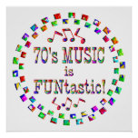 70s Music is FUNtastic Print