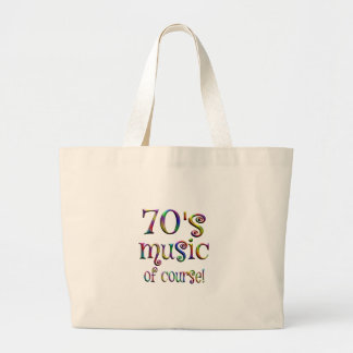 70s Music of Course Large Tote Bag