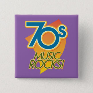 70s Music Rocks! 15 Cm Square Badge