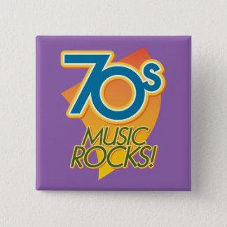 70s Music Rocks! 15 Cm Square Badge