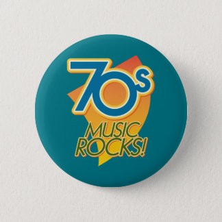 70s Music Rocks! 6 Cm Round Badge