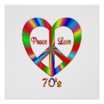 70s Peace Love Poster