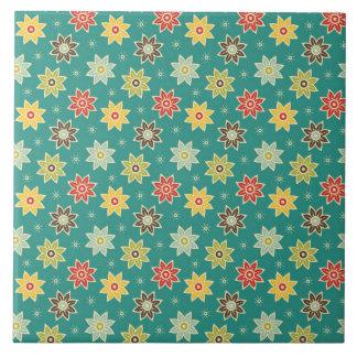 70s Retro Flower Pattern Tile