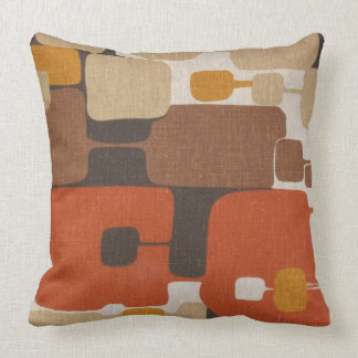 70s Retro Geometric Cushion
