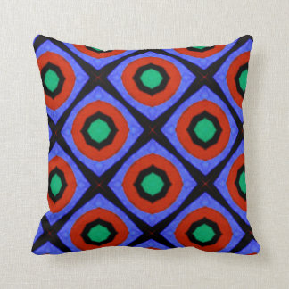 70s retro pattern pillow