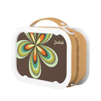 70's retro spring hippie flower power lunch box