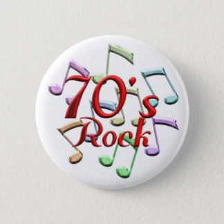 70s Rock 6 Cm Round Badge