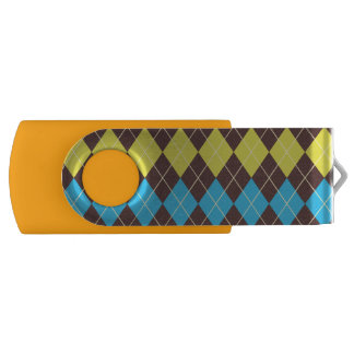 70s Scottish Tartan-Pattern... USB Flash Drive
