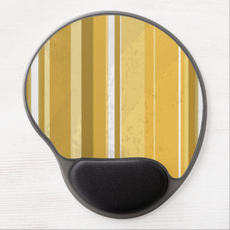 70s Stripes Yellow Gel Mouse Pad