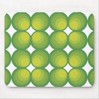 70's years green circle rows... mouse pad