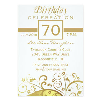 70th - 79th Birthday Party Invitations