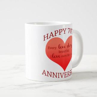 70th. Anniversary Large Coffee Mug