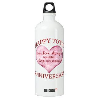 70th. Anniversary Water Bottle