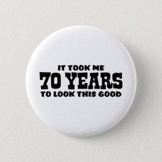 70th Birthday 6 Cm Round Badge