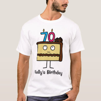 70th Birthday Cake with Candles T-Shirt
