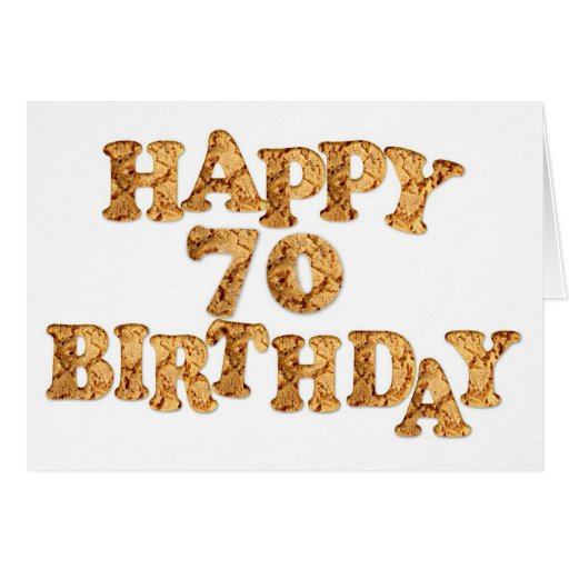 70th Birthday card for a cookie lover