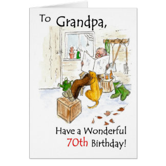 70th Birthday Card for a Grandfather