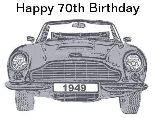 70th Birthday Card For British Classic Car Lovers