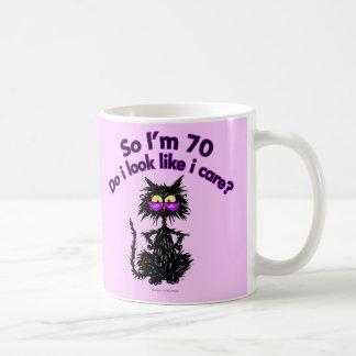 70th Birthday Cat Gifts Coffee Mug