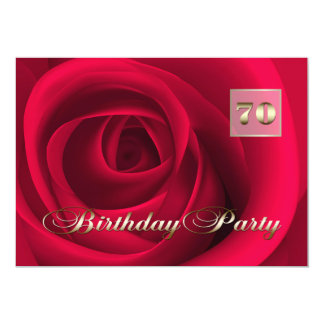 70th Birthday Celebration Custom Invitations