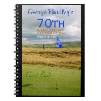 70th Birthday Celebration Golf Guest Book