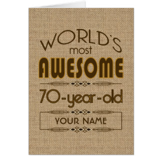 70th Birthday Celebration World Best Fabulous Greeting Card