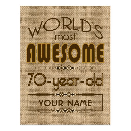 70th Birthday Celebration World Best Fabulous Post Card