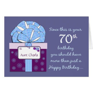 70th Birthday Customizable Card