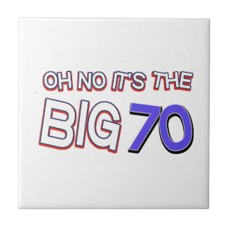 70th birthday designs ceramic tile