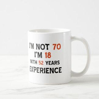 70th birthday designs coffee mug