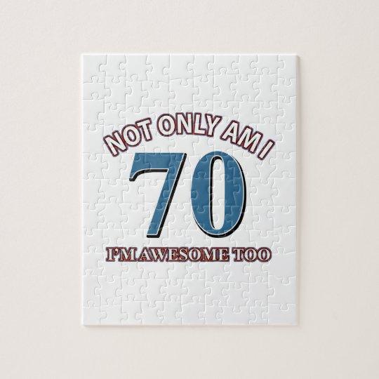 70TH birthday designs Jigsaw Puzzle