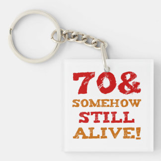 70th Birthday Gag Gift Key Ring