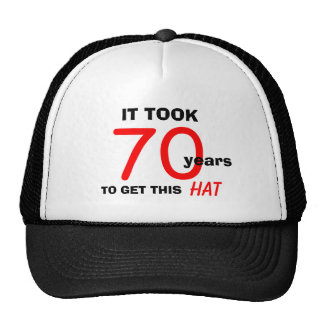 70th Birthday Gag Gifts Hat for Men