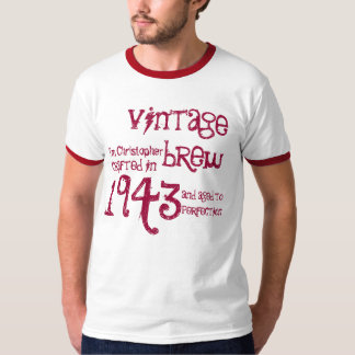 70th Birthday Gift 1943 Vintage Brew Name For Him T-Shirt